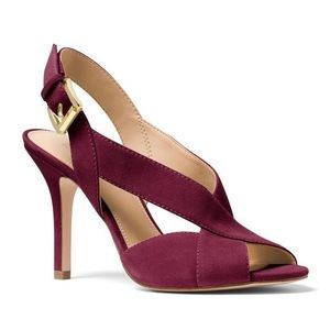 MICHAEL MK Becky Crisscross Slingback Sandals